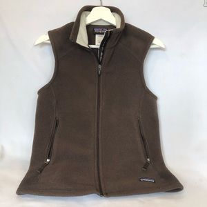 Patagonia Synchilla Brown Zip Sleeveless Vest